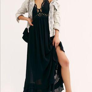 Free People Adella Maxi Slip Lace Dress